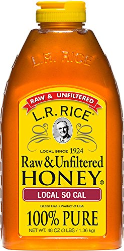 (L.R. Rice Raw & Unfiltered Honey, Local SoCal, 48 oz)