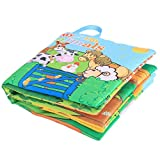Cosway Infant Baby Early Learning Educational Animals Read Soft Books Intelligence Development Toys Picture Cognize Cloth Book (Type 1)