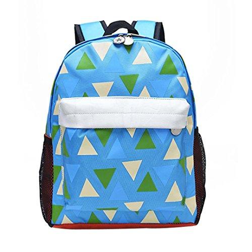 OWMEOT Cute Toddler Backpack Baby Plush Small School Shoulder Bag (Blue)