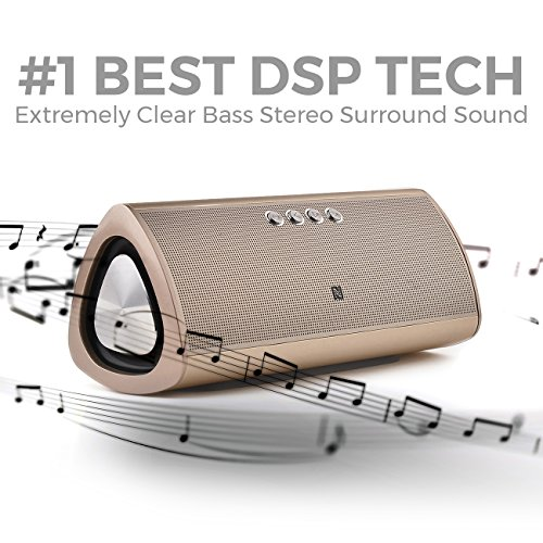 Best Bluetooth Speaker By iSkipper | Portable Wireless HD Music Sound Speaker | Amazing Subwoofer Stereo Surround Audio Performance | Aluminum Sleek & Durable Design | 12 Hours Playtime | 66 Ft. Range