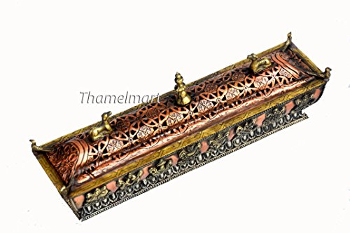 Amazing Pagoda Style Tibetan Incense Burner Hand Crafted in Nepal by thamelmart
