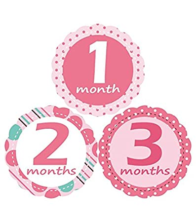 amazon com muchmore baby monthly stickers for girl bodysuit