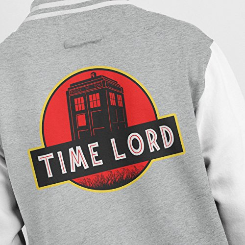 Lord Jurassic Jacket Who white Dr Varsity Park Men's Heather Time Grey wInFppq05