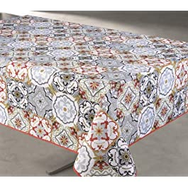 TableCloth Provence Nappe Anti-Taches 100% Polyester et Infroissable 266 Compilation Bordeaux Format Rectangle, Dimension 240×150