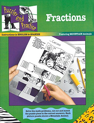 Fractions: Featuring Mountain Animals (Puzzles and Practice Series)