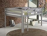 Concord Junior Loft Bed, Twin, Grey