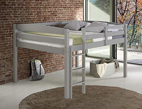 Concord T1304F Junior Loft Bed, Full, Grey