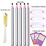 10Pcs Paint Eyebrow Pencil Set Enhancer Makeup Tools Drawing Eye Brow Pen Pencil Cosmetic Eye Permanent Make up Definer Eyebrow Shaping Stencil Template Razor Trimmer Microblading Pencils