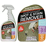 Carpet & Upholstery Cleaning Solution Spot & Stain Remover Spray 32 Oz. Free Spot Removal Guide. Best Concentrated Carpet Cleaners Product For Home Use Pet Stains & Very Dirty Carpet