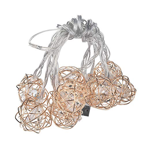 Baulody LED Fairy String Lights Battery Operate Firely Silver Coated Copper Wire Mini for Christmas Tree Hollywood Home Garden Patio Party Wedding Decorations Warm (10LED ()