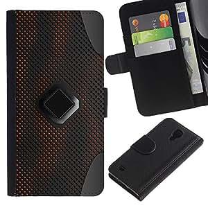 Estuche de Cuero Billetera del tirón Tarjeta de la Bolsa Titular de Suave Caso para Samsung Galaxy S4 IV I9500 / CECELL Phone case / / Sci-Fi Pc Art Pattern Grey /