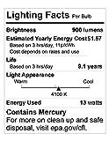 Compact Fluorescent Light Bulb T2 Spiral CFL, 4100k