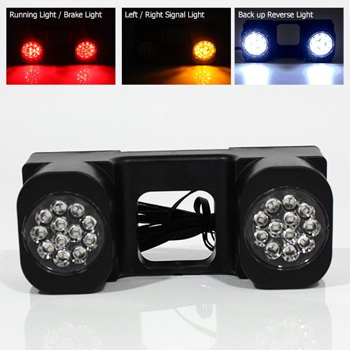 Review Modifystreet LED Hitch Light for Truck trailer or SUV - 24 LEDs with Running + Brake + Signal...