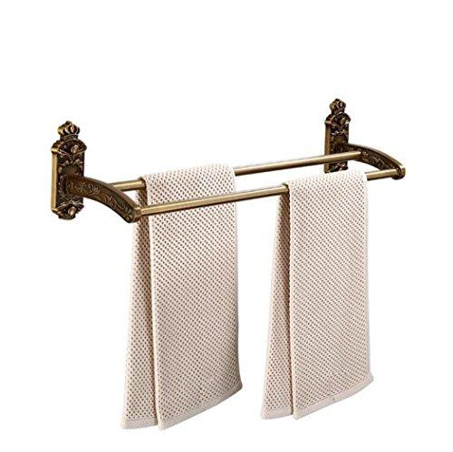 Ring Carved Designer (HANTAO Towel bathroom accessories bathroom towel rack space aluminum antique carved towel ring towel rack wall-mounted bathroom towel rack)