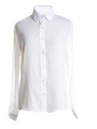 Camisetas Mujer Blusas T Shirt Cmisetas Con Manga Larga De Color SÓLido Ocasional Camisa Tallas Gran...