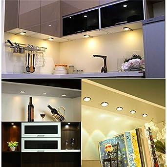 Black Warm White Light Set of 2 1.5w 12VDC Warm White LED Mini Surface Mounted Light Jewelry Cabinet Lamp Spotlight