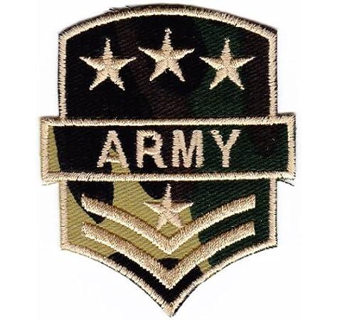 Parche plancha de planchar Iron on patches applikation Army Color Camuflaje Ejército Estados Unidos nadadores: Amazon.es: Coche y moto