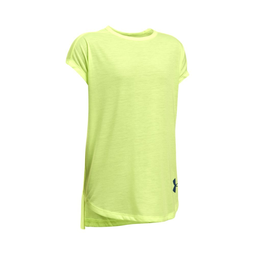 Under Armour Kids Girl's Threadborne Play Up Tee (Big Kids) Pale Moonlight/Pale Moonlight Small