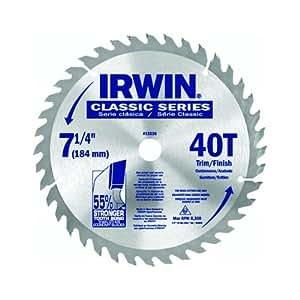 "Irwin 15230 7-1/4"" 40-Tooth Classic Series Circular Saw Blade"