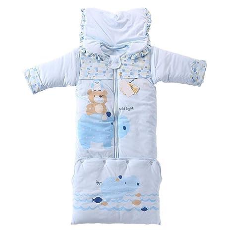 Hongge Saco Bebe Grueso cálido Saco de Dormir, otoño e Invierno niño recién Nacido antipase