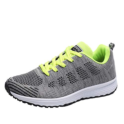 PAMRAY Women's Running Shoes Tennis Athletic Jogging Sport Walking Sneakers Gym Fitness Golf Green -