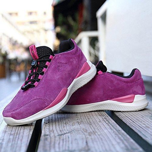 Atmungsaktive Schuhe Männer Frauen Leichte Wintermode Paar Outdoor Laufschuhe Lila