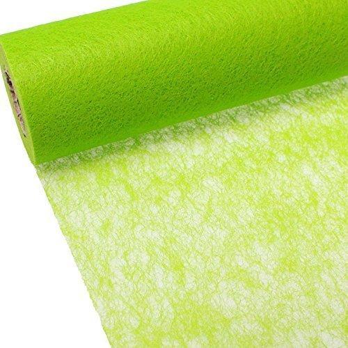 Vlies Tischband Tischläufer Hochzeit 23cm 20m, Farbe:grün