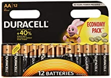 Duracell 5000394203334 household battery Single-use battery AA Alcalino 1,5 V - Pilas (Single-use battery, AA, Alcalino, Cilíndrico, 1,5 V, 12 pieza(s))