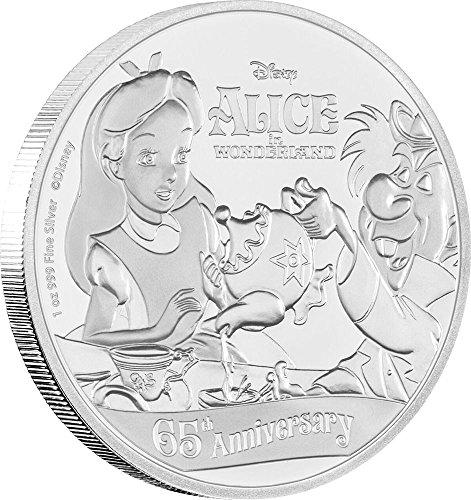2016 NU Modern Commemorative ALICE IN WONDERLAND 65th Anniversary 1 Oz Silver Coin 2$ Niue 2016 (Modern Commemorative Proof)