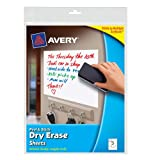 Avery Peel and Stick Dry Erase Sheets, 8.5 x 11 inches, White, 5 Sheets (24302)