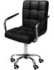 Yaheetech Office Chair Faux Leather Swivel Computer Desk Chair Adjustable - Home Office Study Room Furniture