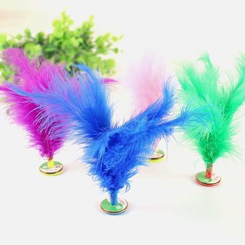 10 Pcs Colorful Feather Chinese Jianzi Kicking Shuttlecock Foot Exercise Outdoor Game goodxy1