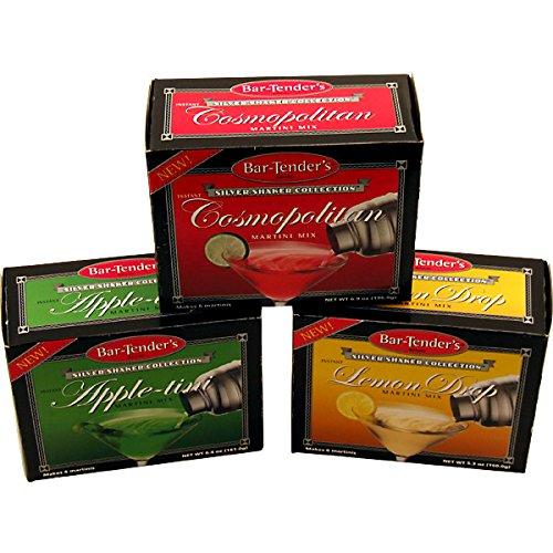 Bar-Tenders Cocktail Mixes - Set of 3 Boxes: Cosmopolitan, Appletini, Lemon Drop Martini ()