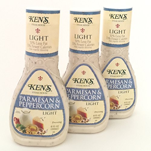 (Ken's Steak House Light Options Salad Dressing, 9 Ounce (Pack of 3) (Parmesan & Peppercorn))