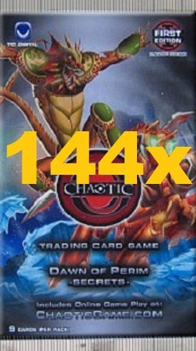 Chaotic DAWN OF PERIM SECRETS Trading Card Game Booster - LOT (9 Cards/Pack) by TC Digital Games