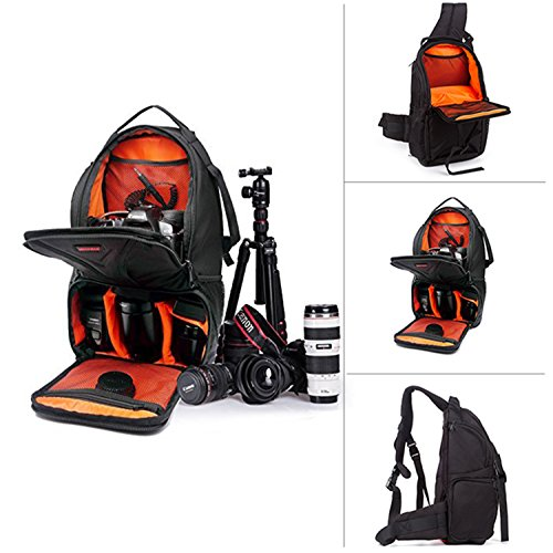 Professional DSLR SLR Sling Camera Bags Travel Outdoor Backpack Knapsack with Waterproof Cover for Sony Canon Nikon Olympus Camera and Camera Accessories