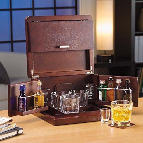 Brookstone Mini Bar Portable Tabletop Bar and Accessories (Portable Mini Bar)