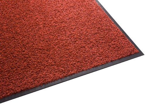 (Guardian Platinum Series Indoor Wiper Floor Mat, Rubber with Nylon Carpet, 3'x6', Red)