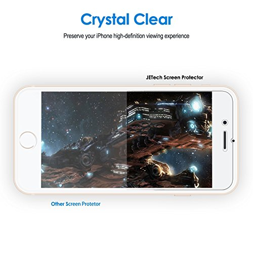 JETech 0982- Protector de Pantalla para iPhone 8 iPhone 7, PET, 3 Unidades