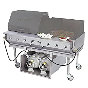 "TableTop king CBBQ-60S-CP 60"" Ultimate Outdoor Gas Charbroiler with Tank Caddy and Grill Cover Accessories"