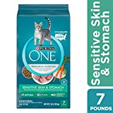 Purina ONE Sensitive Stomach, Sensitive Skin, Natural Dry Cat Food, Sensitive Skin & Stomach Formula - 7 lb. Bag Larger Image