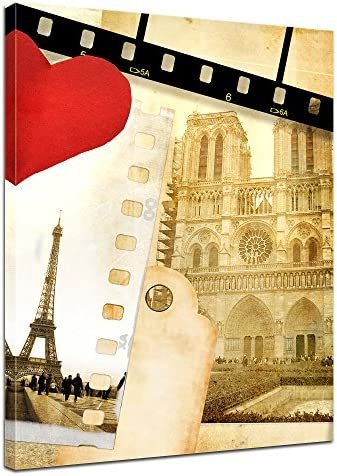 Bilderdepot24 Cuadros en Lienzo Paris in Love 30 x 40 cm - Listo tensa, Directamente Desde el Fabricante: Amazon.es: Hogar