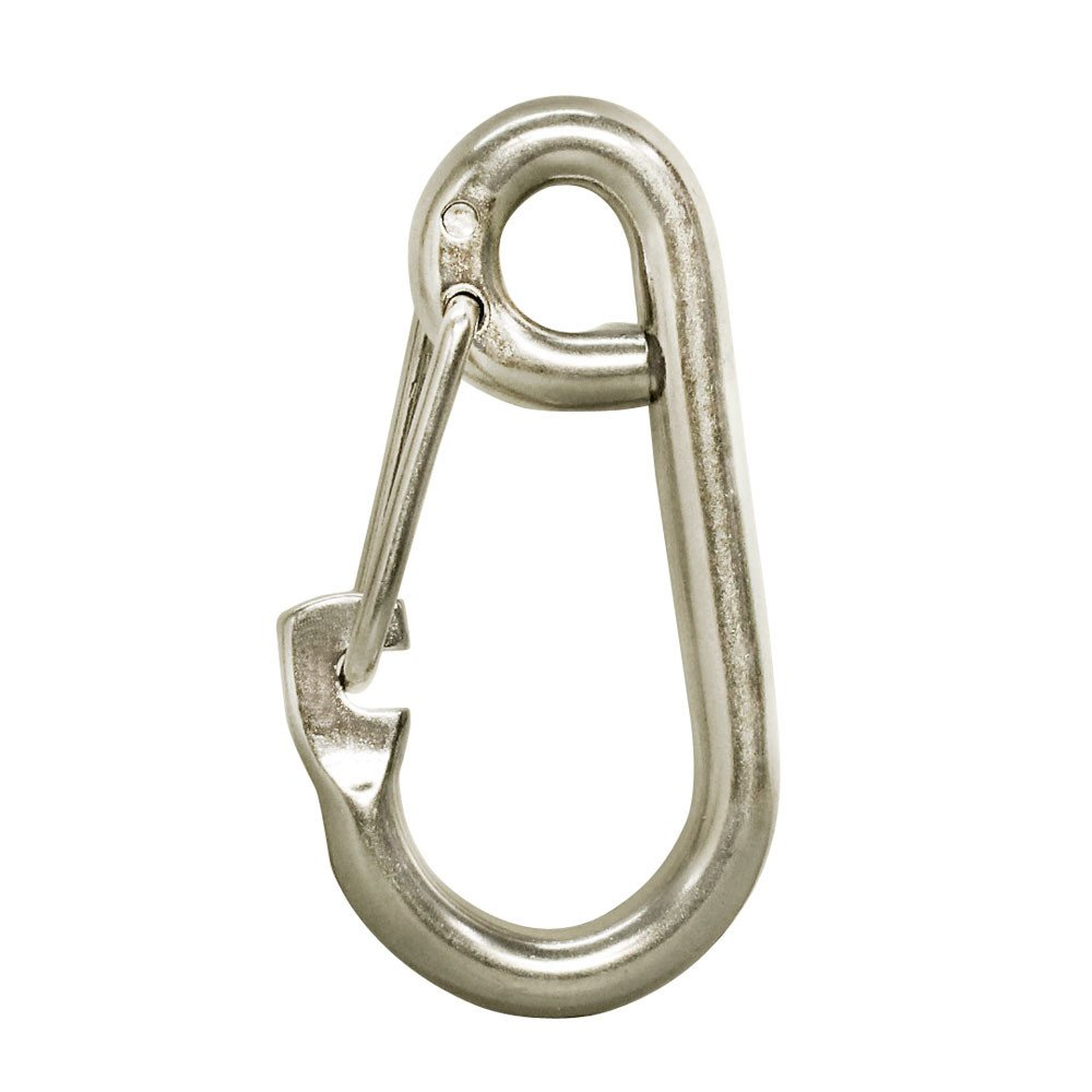 DBM IMPORTS 5 PC 5//16 Gate Spring Snap Hook Lobster Claw Carabiner Stainless Steel Marine Clip Boat 650 LBS Cap