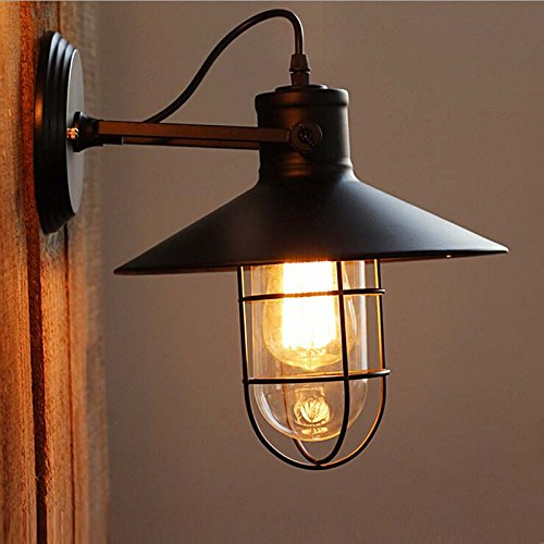 bulb bare p wall sconce in industrial edison finish lights bronze