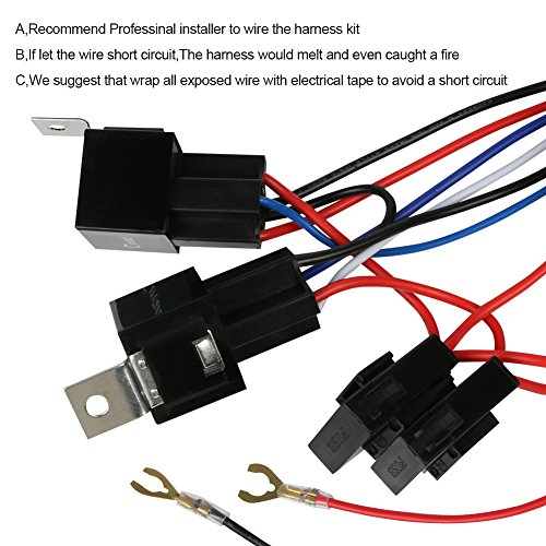 amazon com tireuis 1 control 1 lead wiring harness kit double rh amazon com Wiring Harness Terminals and Connectors Truck Wiring Harness