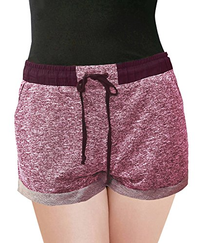 PLUSPICE Women's PlusSize French Terry Stretchy Drawstring Shorts