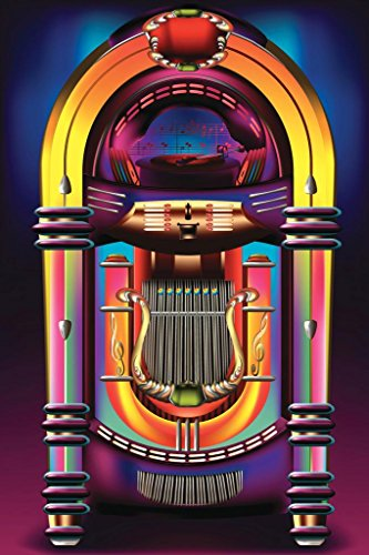 Vintage Rock and Roll Jukebox Art Print Poster 24x36 inch