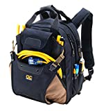 Custom Leathercraft 1134 Carpenter's Tool Backpack with 44 Pockets and Padded Back Support