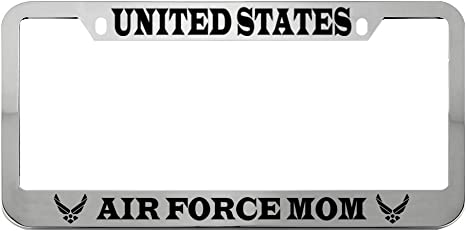US AIR FORCE MOM METAL MILITARY License Plate Frame Tag Holder