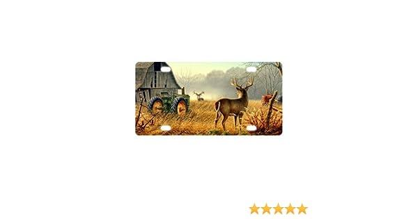 Best Design Deer Nature River Birch Animals Metal License Plate for Car 12 X 6 New